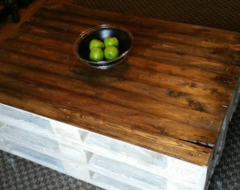 Rustic 100% reclaimed wood table