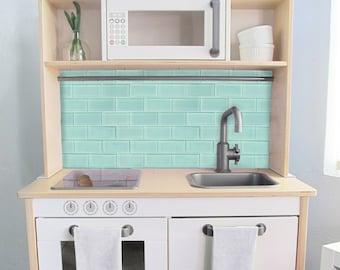 Subway Tile Printed Backsplash Board for Ikea DUKTIG Play | Etsy
