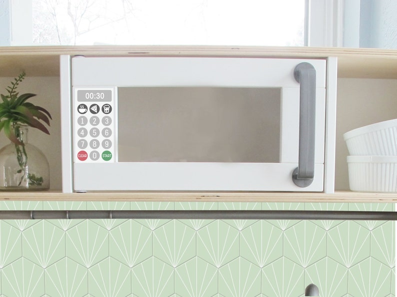 Microwave Decal For Ikea Duktig Play Kitchen Gold Or Silver Makeover Diy Hack Ikea Custom