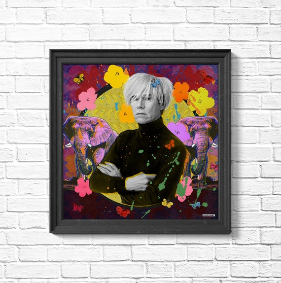 Andy Warhol Pop Collage CANVAS OR PRINT WALL ART