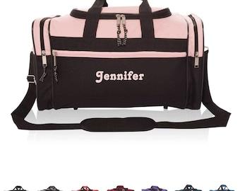 "Personalized Duffle Bag Kids Personalized Duffel Bag Men Women Gym Bag Sports Duffle Bag Monogrammed Duffel Medium Size Duffle Embroider 17"""