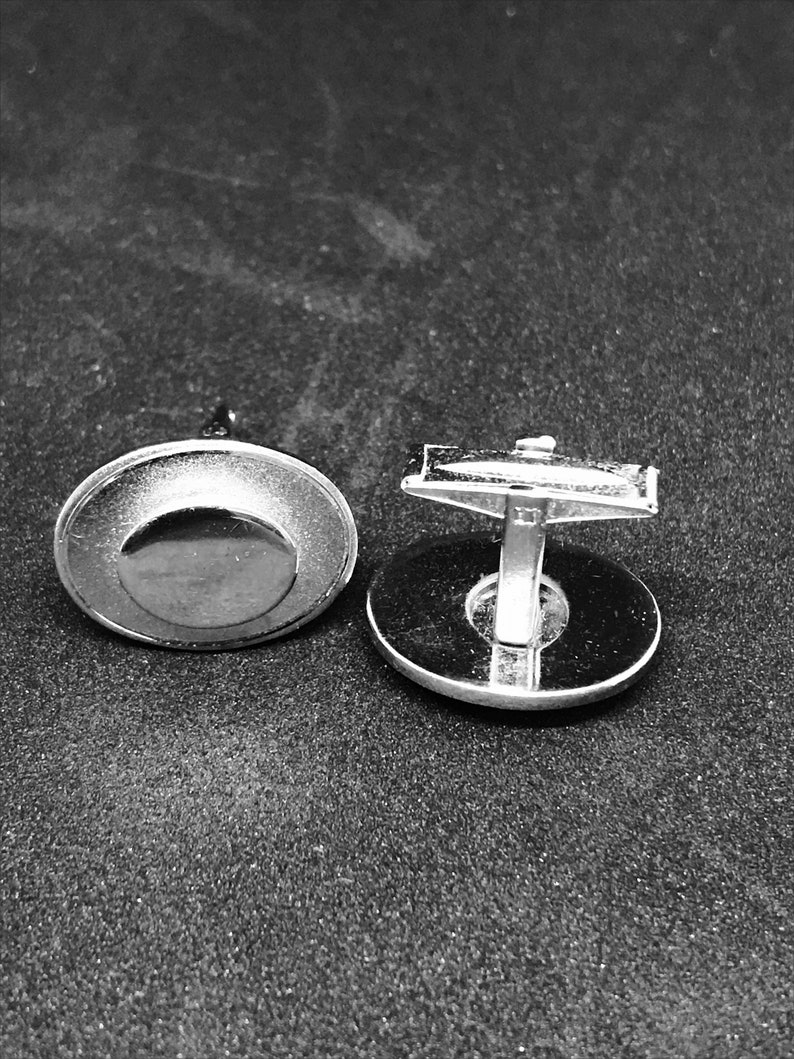 Vintage Silver Oval Cuff Links