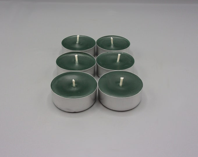 Dusk Tea Lights Set of Six Vegan Candle Earth Scent Witch Scent Patchouli Scent Strong Scent