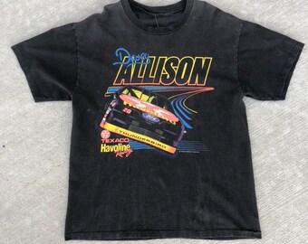 1e4c6e52f4bd 1993 Vintage Davey Allison Racing Shirt   Large   Neon   Graphic T-Shirt    Tee   M