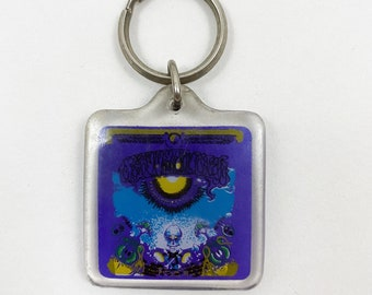 Vintage 80s Purple Grateful Dead Keychain