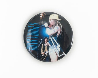 Vintage 1991 Guns N Roses Axl Rose & Izzy Stradlin Button Pin