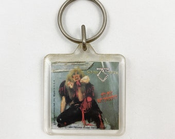 Vintage 1984 Twisted Sister Rock Band Keychain