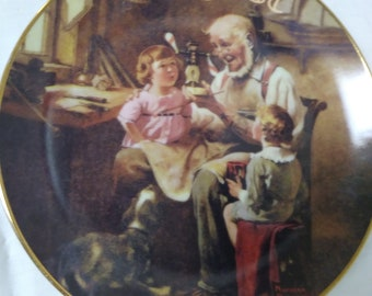 August The Toy Maker by Norman Rockwell Plate No 691/A