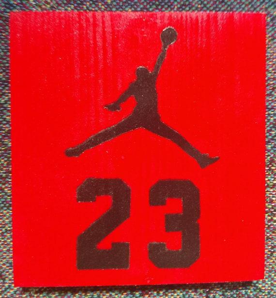 michael jordan 23 logo block etsy