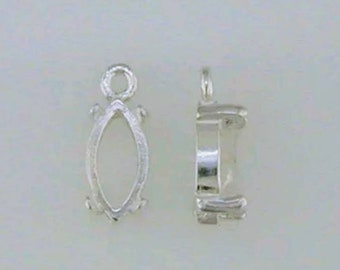Sterling Silver 8x4-20x10 Marquise Pendant Setting 161-040