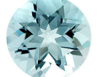 5pcs CLEAN Natural Aqua Blue AQUAMARINE 2 to 2.5 mm Round-Cut Loose Gemstones