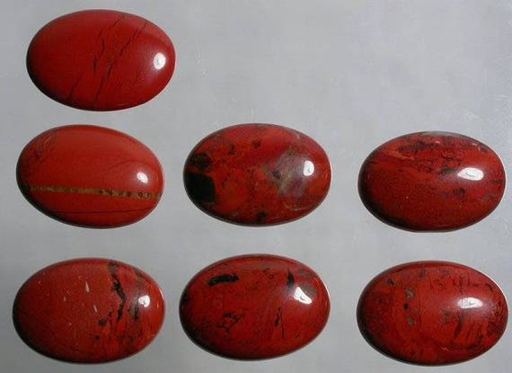 3 Pieces Palm Root Jasper Cabochons Lot 23x34mm to 23x37mm Oval Shape Natural Jasper Gemstone Cabs Smooth Gems Loose Stone Semi Precious Cab