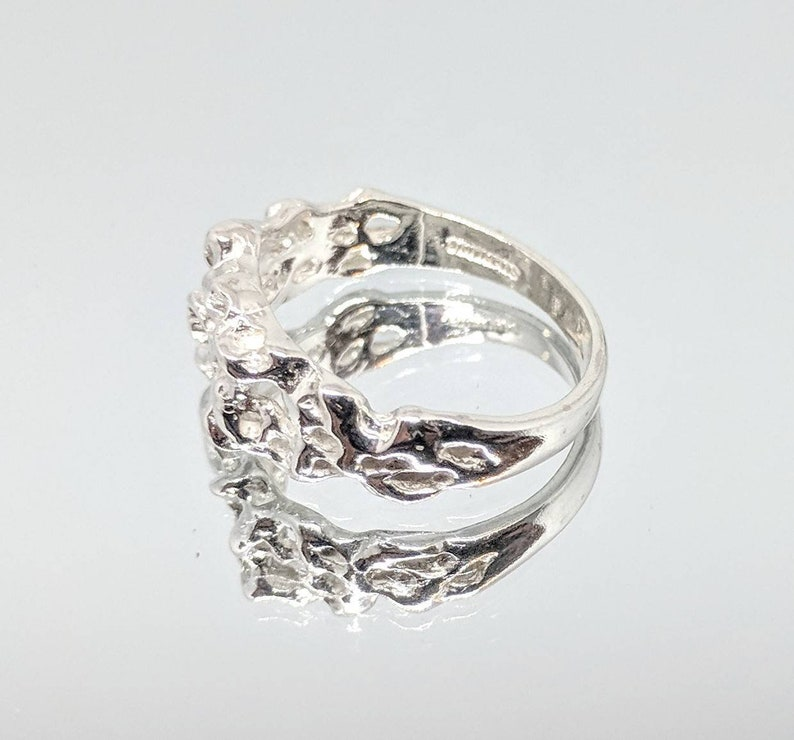 Fashion Ring 168-022148-022 Sterling Silver or Solid 14kt White or Yellow Gold Nugget Freeform Ring Shank Size 7 setting DYI Jewelry