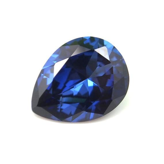 Lab Created Rich Vivid Blue Sapphire AAA 5x3mm - 16x12mm Oval Loose Gemstone
