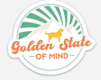 Golden State of Mind Flower California Poppy Gold End of a Precocious Decade Reversible Dog Tie On Bandana