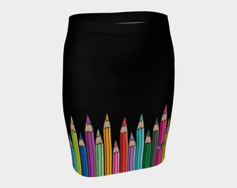 Fitted Skirt - Coloured Pencils