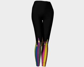 Full Length Leggings - Coloured Pencils