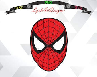 Spiderman Svg,png,dxf/Spiderman Clipart For  Print/Design/Cricut/Silhouette...etc