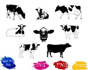 Cow svg,png,dxf/Cow clipart for Print/Design/Cricut/Silhouette...etc