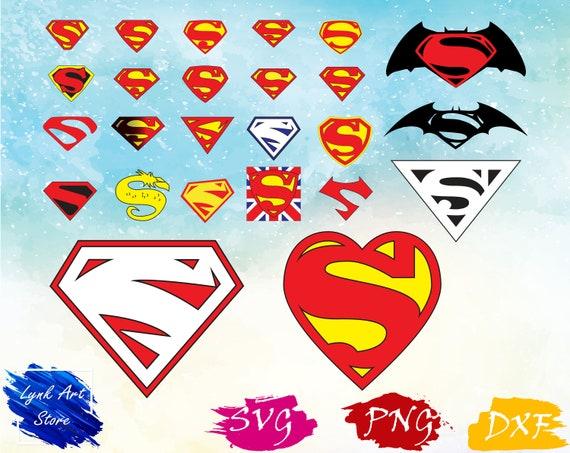 Superman Logo Svgpngdxfsuperman Logo Clipart For Etsy