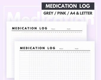 medication log medication tracker tracker printable medicine tracker pill tracker medicine log medication planner medication