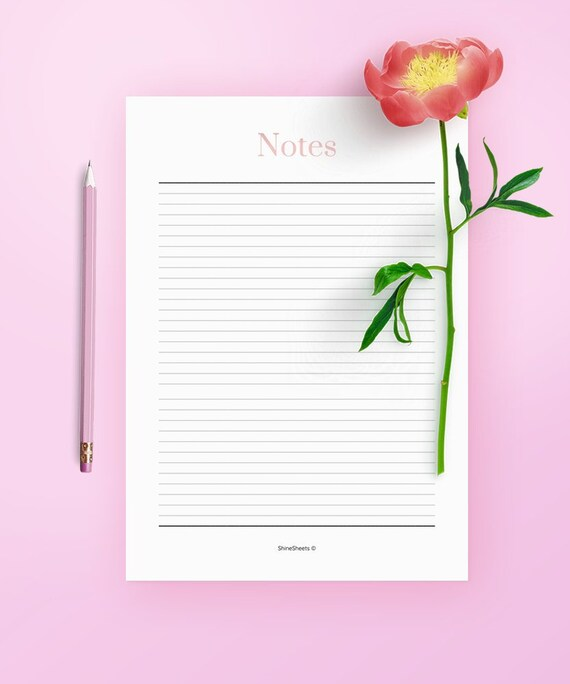 photo relating to Printable Notes Page known as Printable Notes / Notes web page / Planner inserts / Planner webpages / Blank Notes / Be aware using / Planner add-ons / Pupil notes / Notes PDF