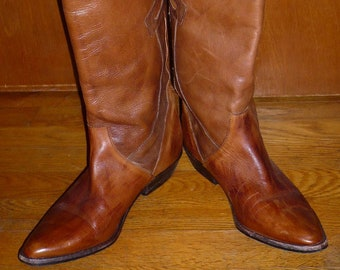 30a58ba24eaf0 Selby 5th Avenue Leather Go Go knee high Leather Boots Vintage