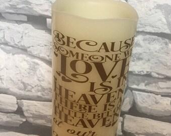 Wedding memorial led pillar candle