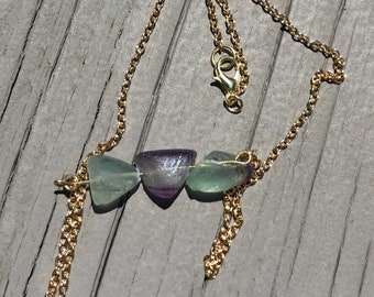 Fluorite Bar Necklace