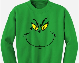 grinch stole christmas holiday sweatshirt - Grinch Ugly Christmas Sweater