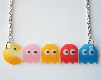 Pac-Man Necklace, Gaming Jewelry