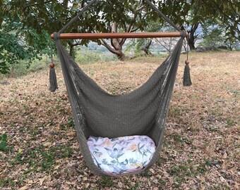 Gray Handmade Hammock Chair