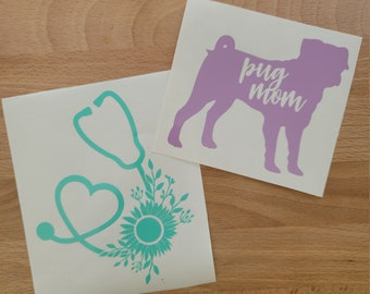READY TO SHIP   4 inch Vinyl Decals   Sample Sale