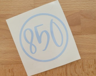 READY TO SHIP   Area Code Vinyl Decals   Discount Section