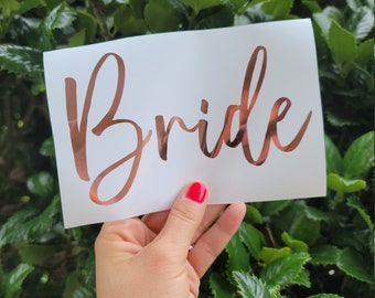Bride Vinyl Decal Sticker