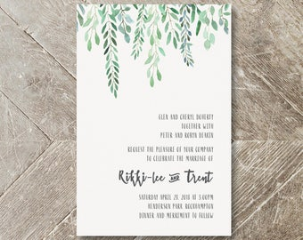 Wedding Invitation / Save the Date Buffalo Kraft Paper White