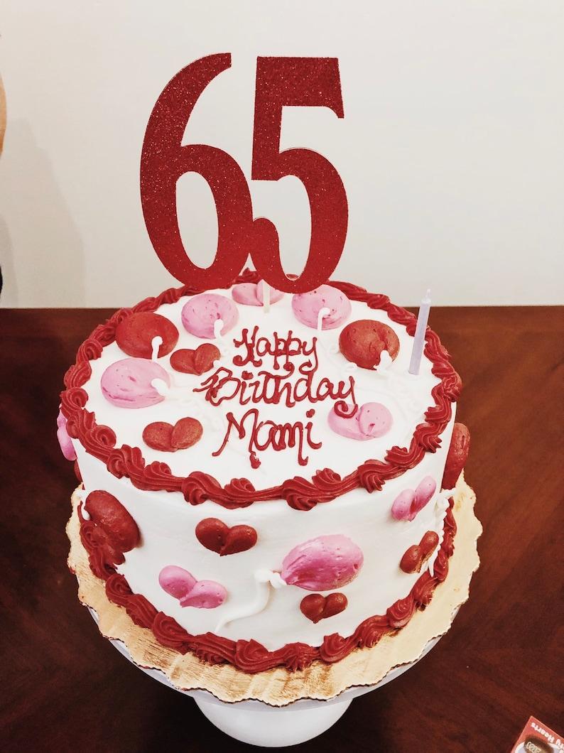 Brilliant 65Th Birthday Cake Topper 65 Cake Topper 65 Birthday Party Etsy Funny Birthday Cards Online Drosicarndamsfinfo
