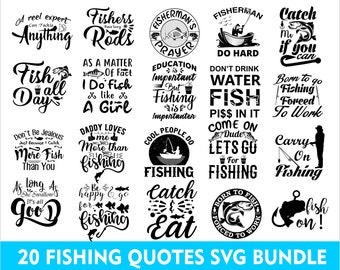 Download Funny Fishing Quotes Etsy