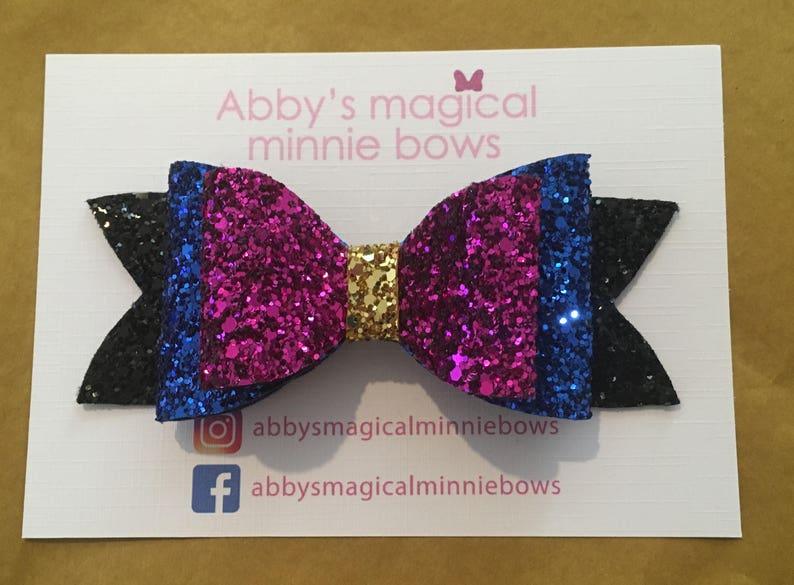 Anna inspired hair bow  Disney hair bow   Frozen 2 bow  image 0