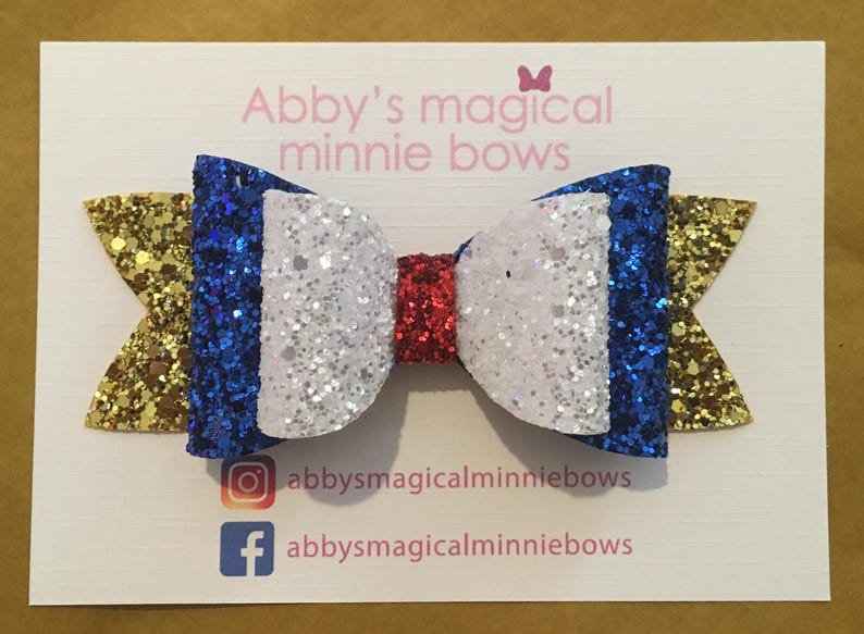 Donald Duck inspired hair bow  Disney inspired hair bow  image 0