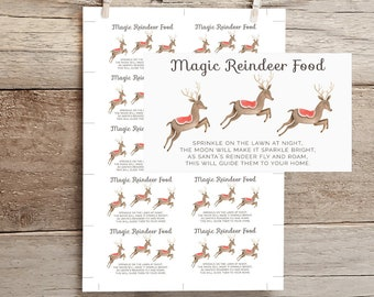 graphic relating to Reindeer Food Labels Printable identified as Reindeer food stuff printable Etsy