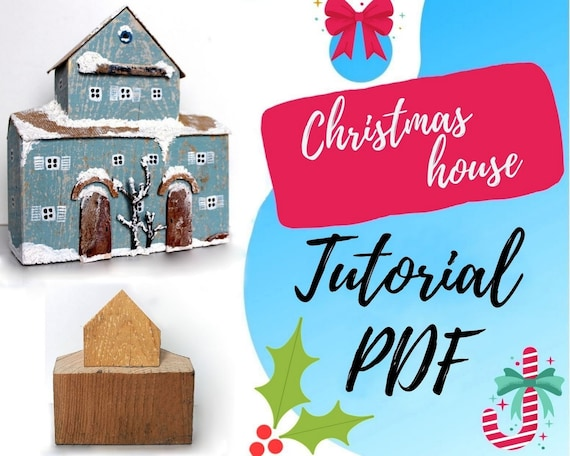 Christmas clearance Digital pattern Tutorial wooden