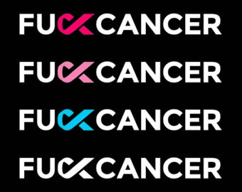 F Cancer Decal