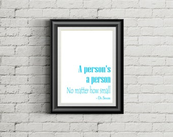 a person s a person no matter how small pink digital etsy
