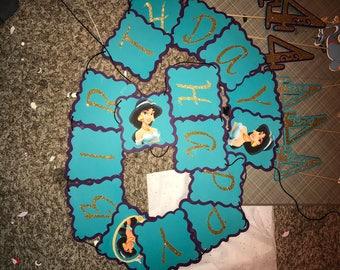 Pricess Jasmin Birthday Banner