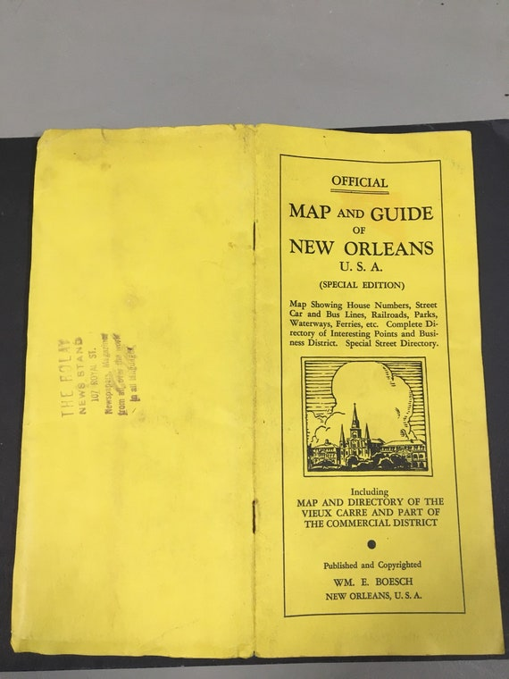 Map New Orleans 1936   Etsy