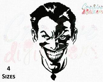 Joker Face Tattoo Embroidery Design Joker Face Tattoo Etsy