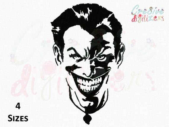 Laughing Joker Face Sketch Embroidery Joker Sketch Machine