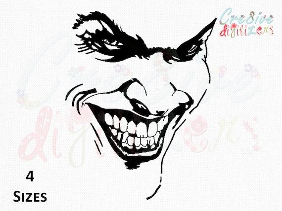 Joker Face Tattoo Embroidery Design Joker Face Tattoo