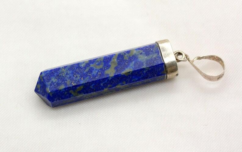 1 Piece Lapis Lazuli Pendant Size:36x9.5x7mm-IM133